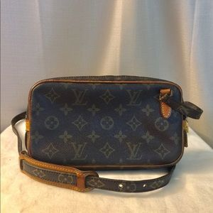 💯% Authentic LV Marly Bandolierre Vintage
